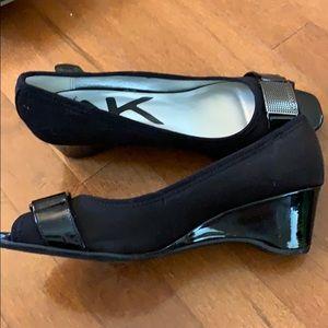 Anne Klein Shoes - Anne Klein 2 inch black wedges